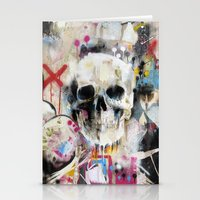 skull Stationery Cards featuring Skull by FAMOUS WHEN DEAD