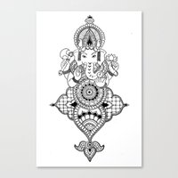 ganesh Canvas Prints featuring Ganesh by N.I.S.