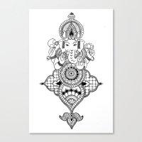 ganesh Canvas Prints featuring Ganesh by N.I.S.