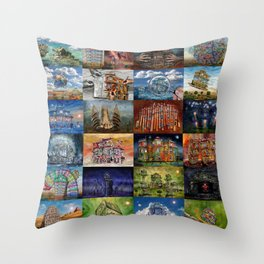 Super Collage - House Throw Pillow