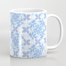 Peonies and Paisley in Blue and White Coffee Mug