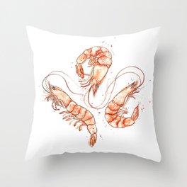 Shrimp Twirl 2014 Throw Pillow