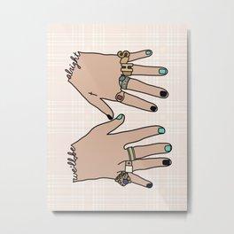 h. styles hands Metal Print