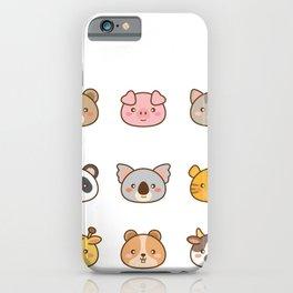 Kawaii stickers iPhone Case