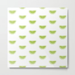 Lime Wedge Print and Pattern Metal Print