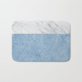 Porcelain blue and white marble Bath Mat