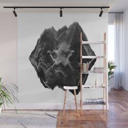 Black and White Glitch Art Wall Mural