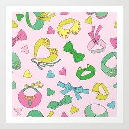We love collars and bow ties Art Print
