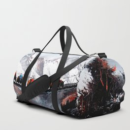 Herd Of Mountain Yaks Himalaya Duffle Bag