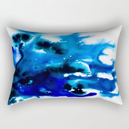 Paint 8 abstract indigo watercolor painting minimal modern canvas art affordable home decor trendy Rectangular Pillow