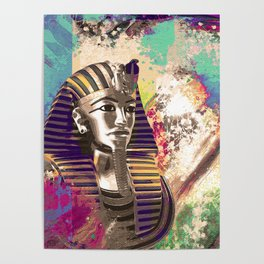 King Tut  Mask Abstract composition Poster