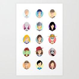 Heroines Art Print