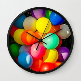 Colorful Toy Balloons Wall Clock