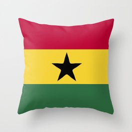 Ghana flag emblem Throw Pillow