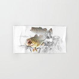 Largemouth Black Bass Fishing Art Hand & Bath Towel