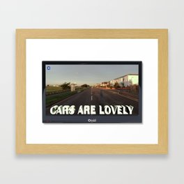 The Myth of Cars 01 Framed Art Print