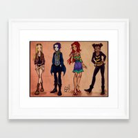 teen titans Framed Art Prints featuring Titans fashion by Gretlusky