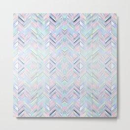 Cristal Lines Metal Print