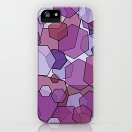 Converging Hexes - Mauve Pink and Purples iPhone Case