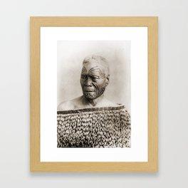 Maori Portrait by Arthur James Iles Framed Art Print