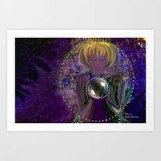 Gypsy and her Crystal Ball-abstract Art Print