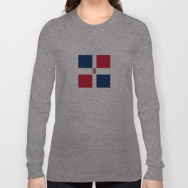 Flag of the dominican republic Long Sleeve T-shirt