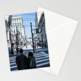San Francisco street lines Stationery Cards