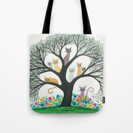 Cimarron Whimsical Cats Tote Bag