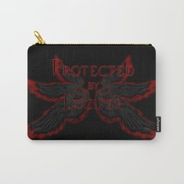 Protected by Lucifer Dark Carry-All Pouch