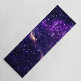 Ultra violet purple abstract galaxy Yoga Mat