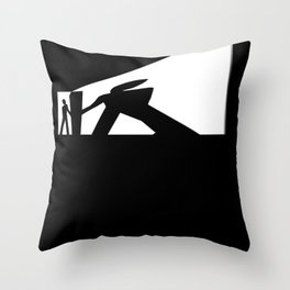 The Visitor Silhouette Throw Pillow