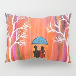 Colors Of Love Romantic Colorful Rainy Painting Pillow Sham