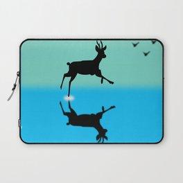 Deer in the water Laptop Sleeve