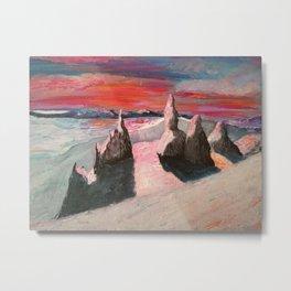 Mountain sunset, Old man of Storr Metal Print