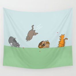 The Red Dot Invasion Wall Tapestry