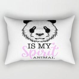 Panda Is My Spirit Animal Panda Head Girl Motif Rectangular Pillow