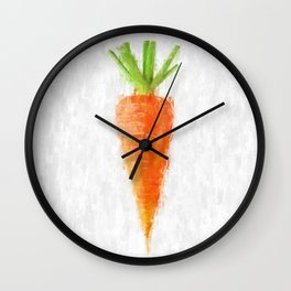 Big Carrot Wall Clock