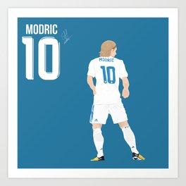 Luka Modric - Real Madrid Art Print