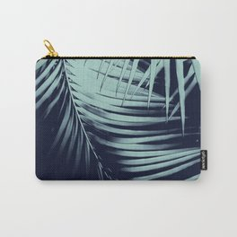Palm Leaves Blue Summer Night Vibes #1 #tropical #decor #art #society6 Carry-All Pouch