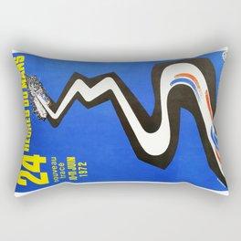 1972 Le Mans poster, car poster, race poster, t-shirt Rectangular Pillow