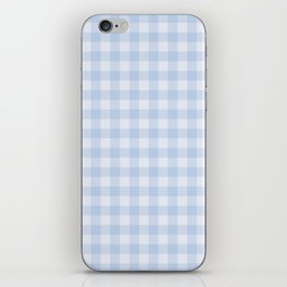 Gingham Pattern - Blue iPhone Skin
