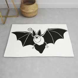 Mr. Bat Loves You Rug
