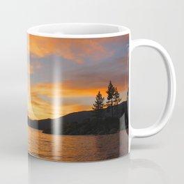 Orange sunset off the Lake Coffee Mug