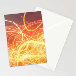 Late Night Venture Through a Bustling City of Lights Stationery Cards