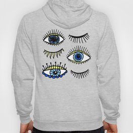 Evil Eyes Blue Yellow Lucky Charm Symbol Hoody