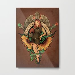 The Girl Who Waited Metal Print