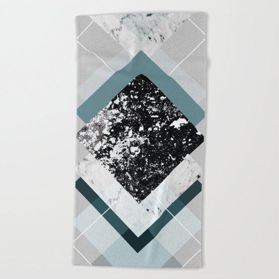 Geometric Textures 8 Beach Towel