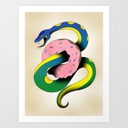 Donut Snake Art Print