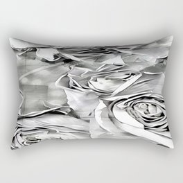 Paper Heart Roses Rectangular Pillow