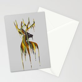 Painted Stag Stationery Cards